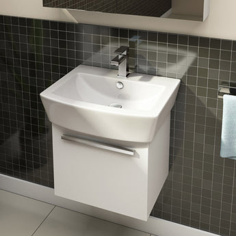 Pura Bloque 550mm Countertop Basin with One Tap Hole - GWP Bathrooms