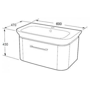 Grace 600mm Furniture Basin - GWP Bathrooms