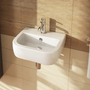 Essence 400mm Cloakroom Basin With One Tap Hole - GWP Bathrooms