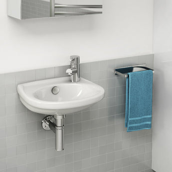 Ivo 360mm Cloakroom Handrinse Basin (One Tap Hole/Two Tap Holes) - GWP Bathrooms