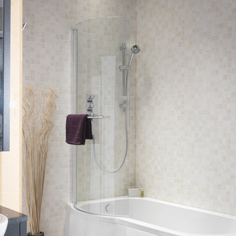 Curve Shower Bath Universal Bath Screen - GWP Bathrooms
