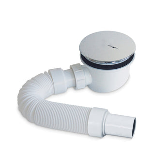 Pura 90mm Fastflow Shower Waste And Flexipipe Connector - GWP Bathrooms