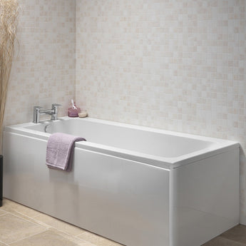 SQR 1700mmX700&750mm Single Ended Bath - GWP Bathrooms