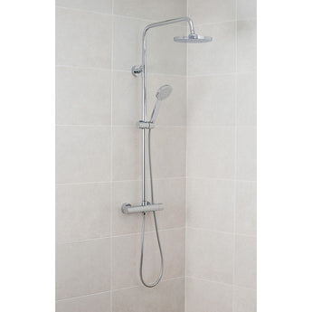 Pura Arco Dual Outlet Thermostatic Bar Valve With Fixed And Adjustable Shower Heads - GWP Bathrooms