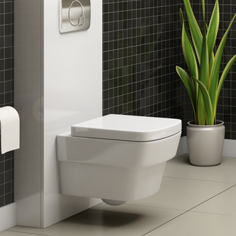 Pura Bloque Wall Hung Toilet with Soft Close Seat - GWP Bathrooms