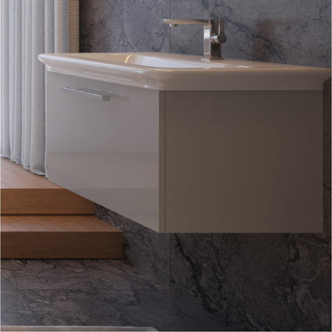 Essence 600mm Single Drawer Wall Mounted Vanity Unit & Basin - GWP Bathrooms