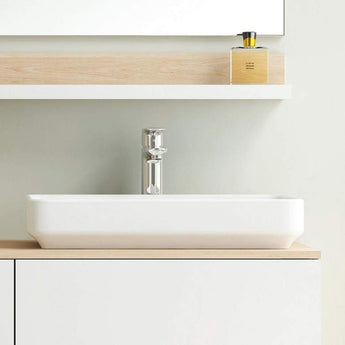 Pura Arco 550mm Rectangular Countertop Basin - GWP Bathrooms
