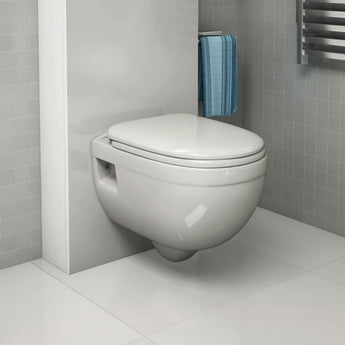 Ivo Wall-Hung Toilet With Soft Close Seat - GWP Bathrooms
