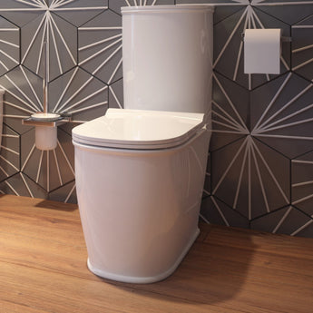 Liberty Close Coupled Toilet & Cistern Inc Soft Close Seat - GWP Bathrooms