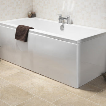 SQR Double Ended Bath 1700X750mm - GWP Bathrooms