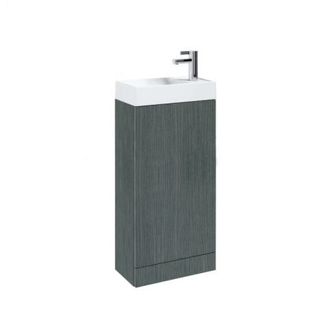 Quadro 400mm Single Door Floor Standing Cloakroom Vanity Unit & Basin - GWP Bathrooms
