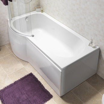 Curve 1675 Universal 3mm Shower Bath Panel - GWP Bathrooms