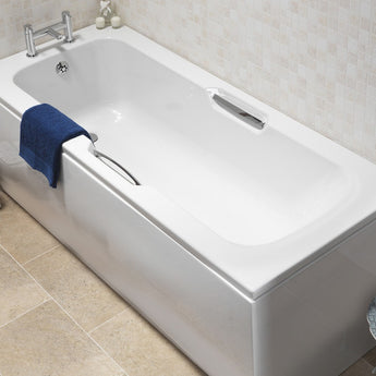 Ivo 1700mm X 700mm Twin Grip Single Ended Bath - GWP Bathrooms