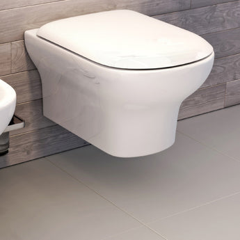Grace Wall-Hung Rimless Toilet With Luxury Soft Close Seat - GWP Bathrooms