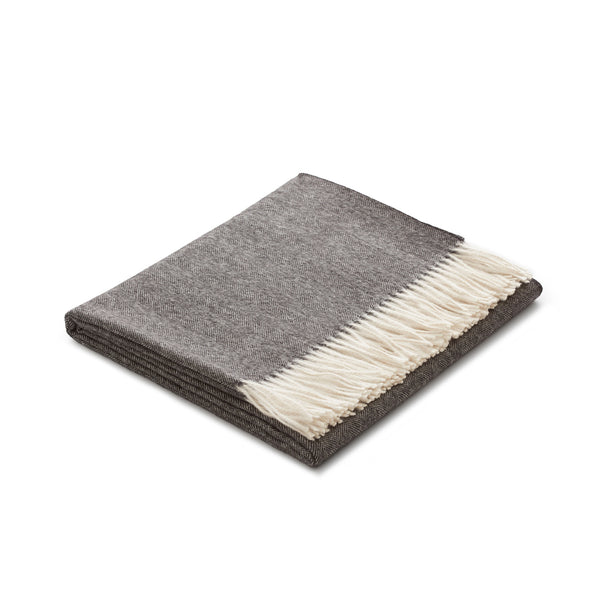 Sill Throw Charcoal 100% Baby Alpaca by Fells Andes