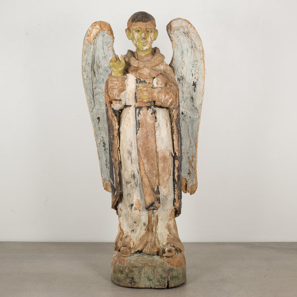 19th c. Polychromed Carved Wooden Santo c.1800-1850