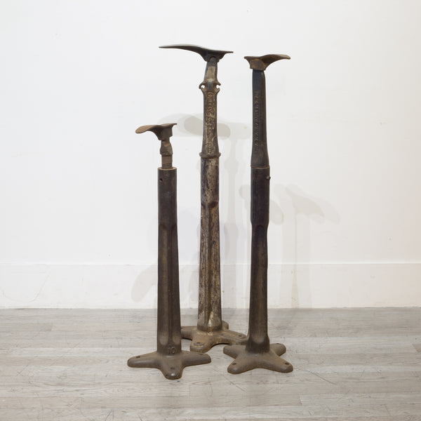Antique Cast Iron Cobbler Stands c.1890s