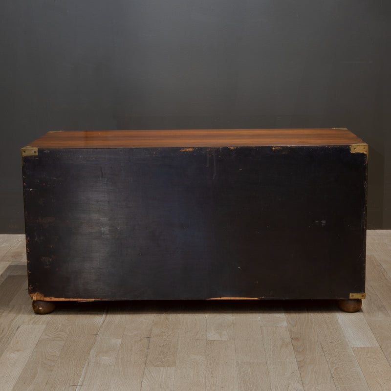 Mid 19th c. Mahogany and Brass Campaign Chest c.1850s