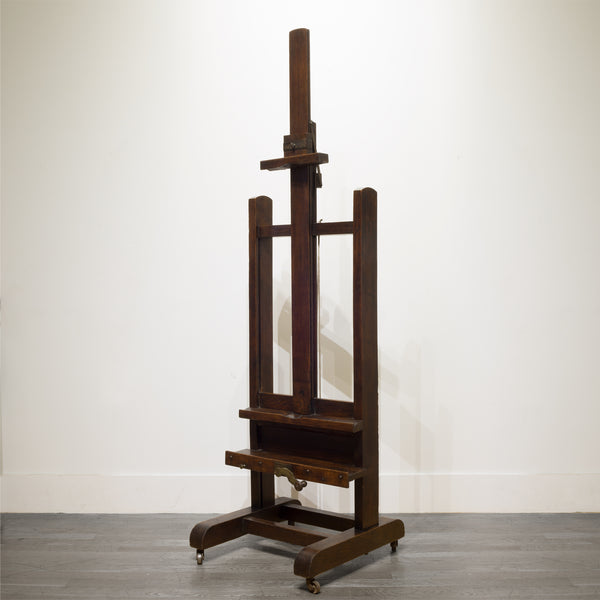 Late 19th c. Adjustable Walnut and Bronze Easel c.1890