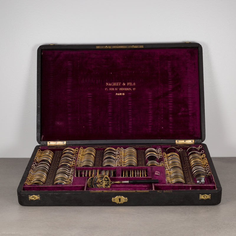 French Optometrist Eye Testing Kit c.1890