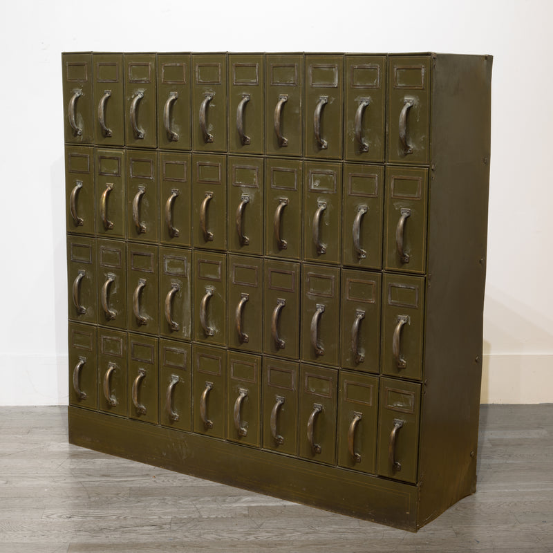 Mounumental Industrial Courthouse Ledger File Cabinet c.1940