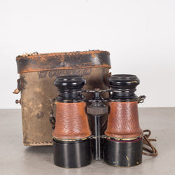 Expandable Leather Wrapped Binoculars by EC Laire Paris c.1880