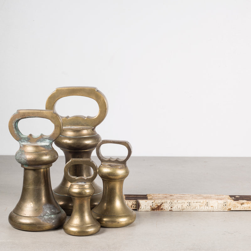 19th c. English Brass Graduating Bell Weights c.1800s