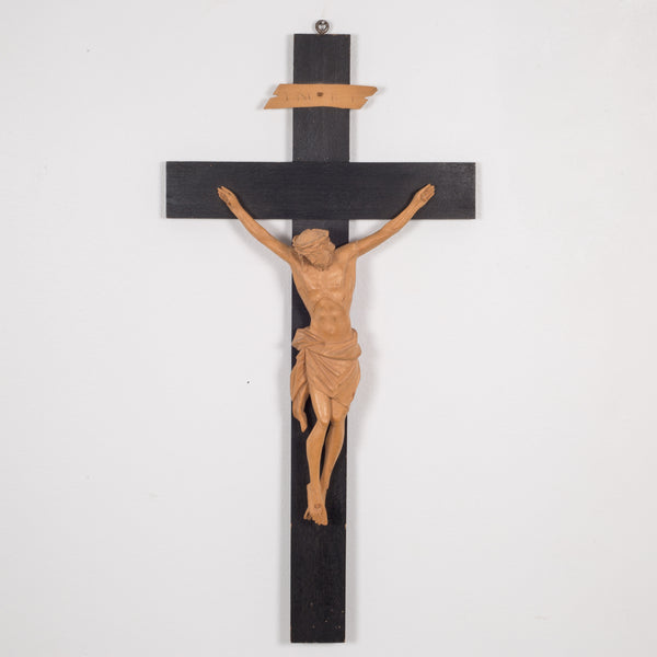 Hand Craved German Crucifix