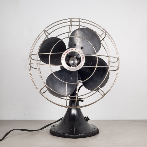 Vintage Robbins & Myers Oscillating Fan c.1950