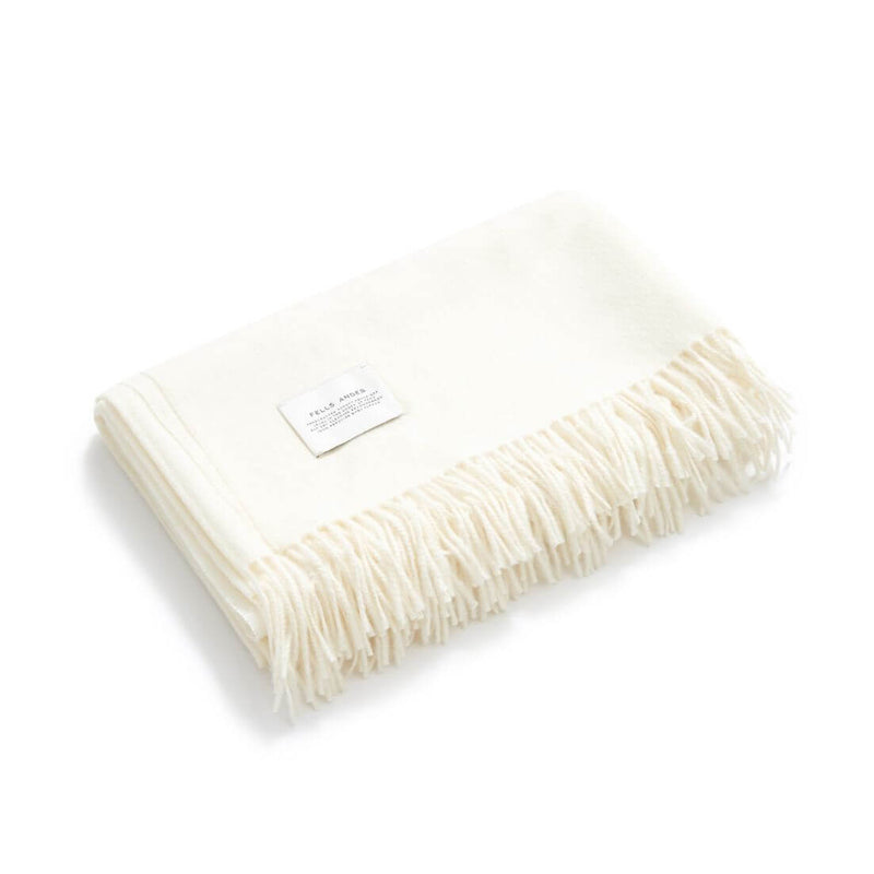 Dimma Throw, Cream 100% Baby Alpaca by Fells Andes
