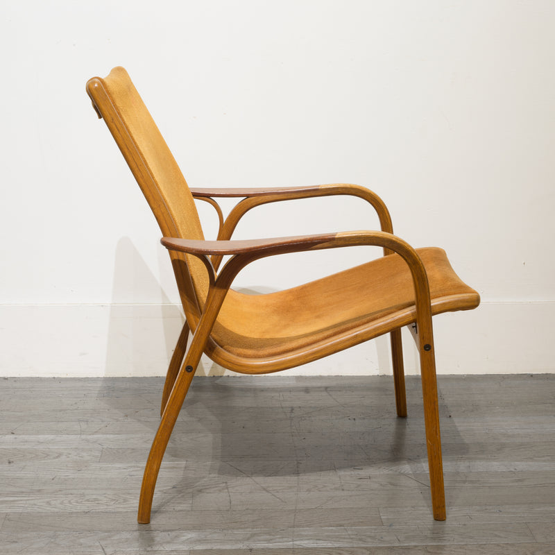 Yngve Ekstrom for Swedese Lamino Teak and Suede Lounge Chair c.1960s