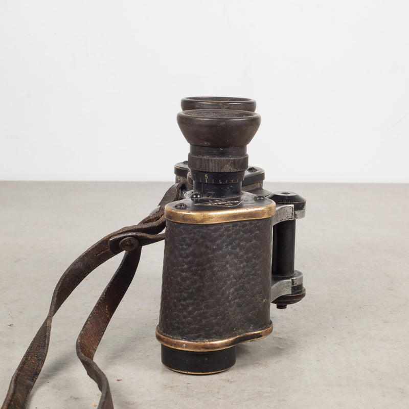 World War 1 German Imperial Army Infantry Leather Binoculars c.1918