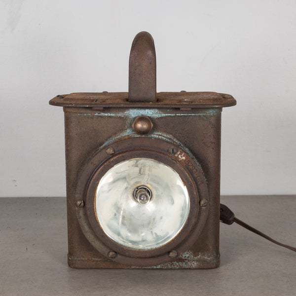World War Era U.S. Navy Ship Lantern Lamp c.1940
