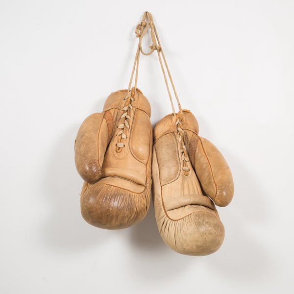 Leather Wilson Boxing Gloves, circa 1940