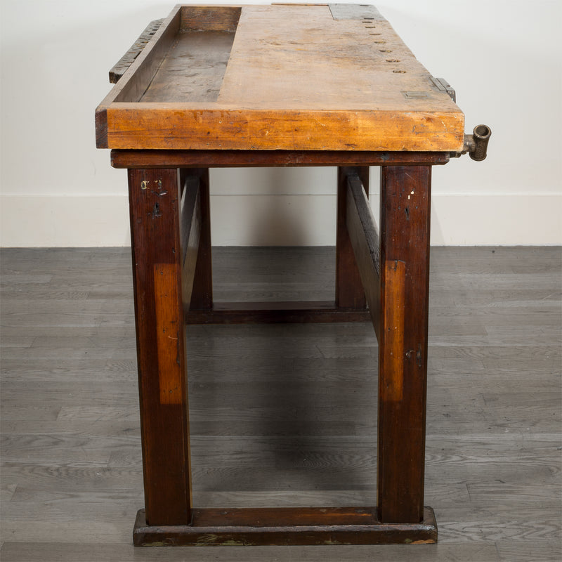 Beech and Maple American Carpenter's Workbench c.1880