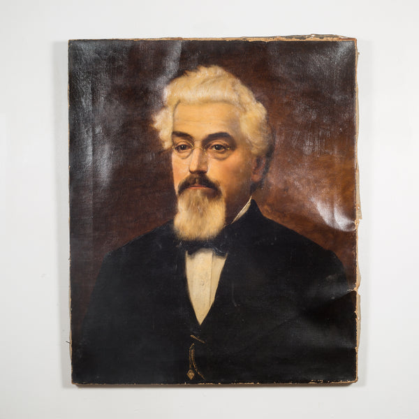 19th c. Signed Oil Portrait 1896