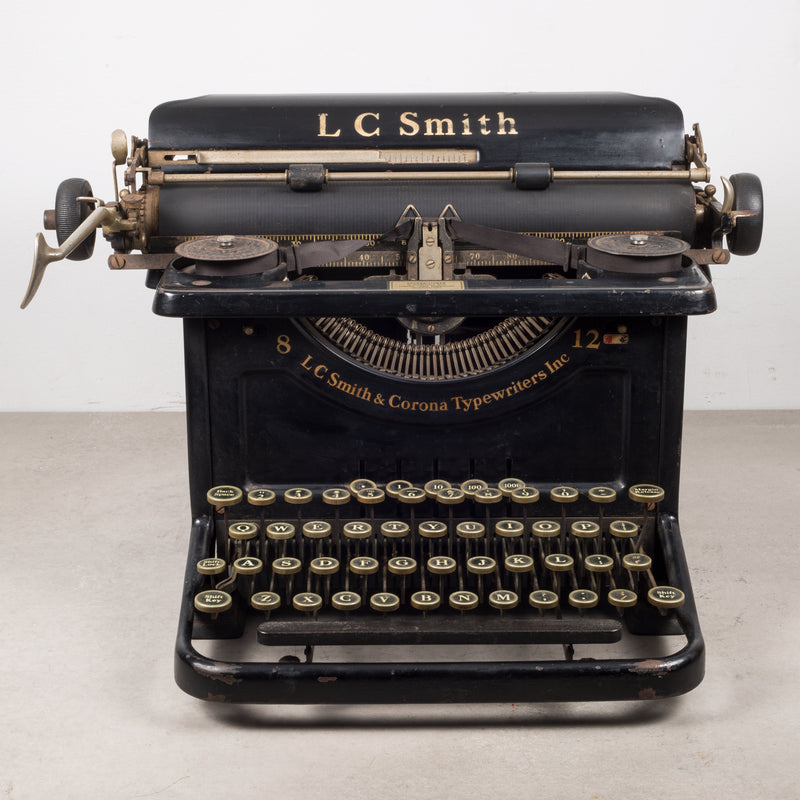 Antique LC Smith & Corona #8 Typewriter c.1934