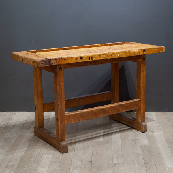 Antique American Carpenter's Workbench c.1900