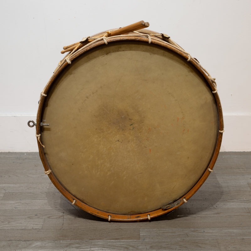 Large Antique Calfskin Begium Drum c.1900
