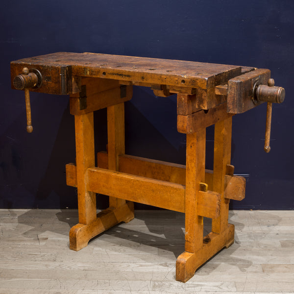 Antique Adjustable American Carpenter's Workbench c.1920-ON HOLD