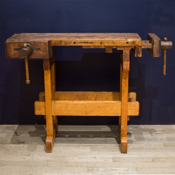 Antique Adjustable American Carpenter's Workbench c.1920