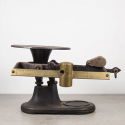 Antique San Francisco Brass and Cast Iron Balance Scale c.1930