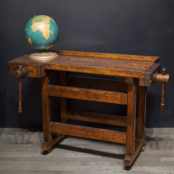 Black Walnut and Douglas Fir American Carpenter's Workbench c.1900