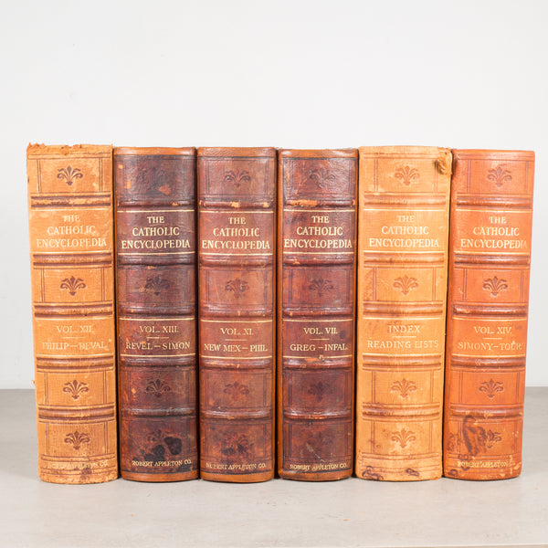 "Set of Leather Bound ""The Catholic Encyclopedia c.1910-1914"