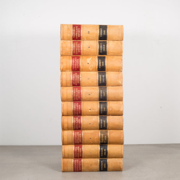 Leather Bound California Appellate Reports Books c.1905-1916