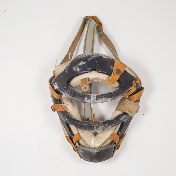 Metal and Leather Catcher's Mask c.1920