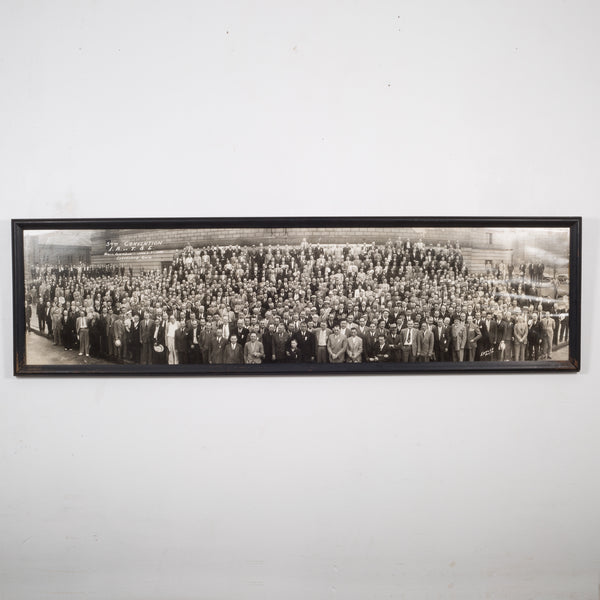 "Early 20th c. ""I.A. of T.S.E Convention"" Panoramic Photo c.1938"