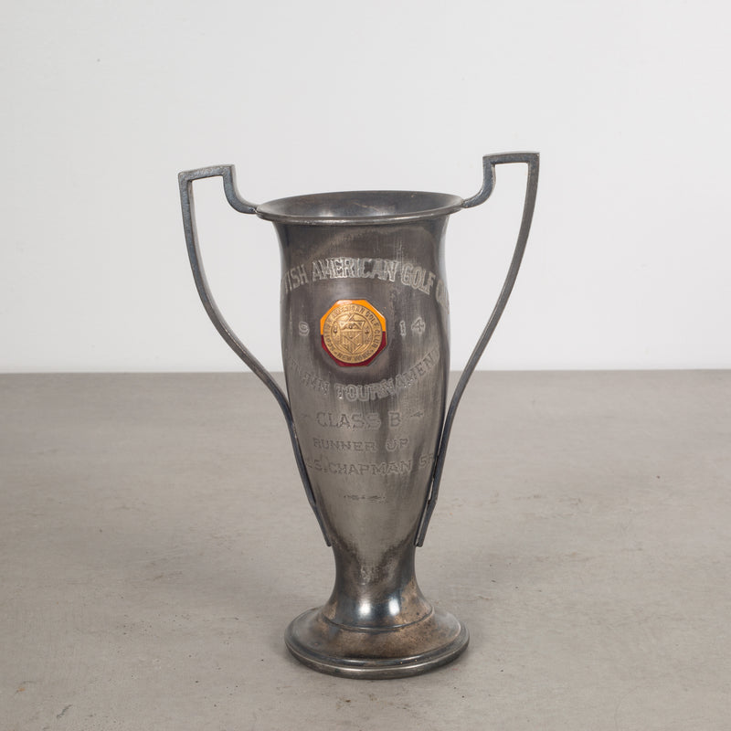 Silver Plated/Enameled/Brass Trophy c.1914