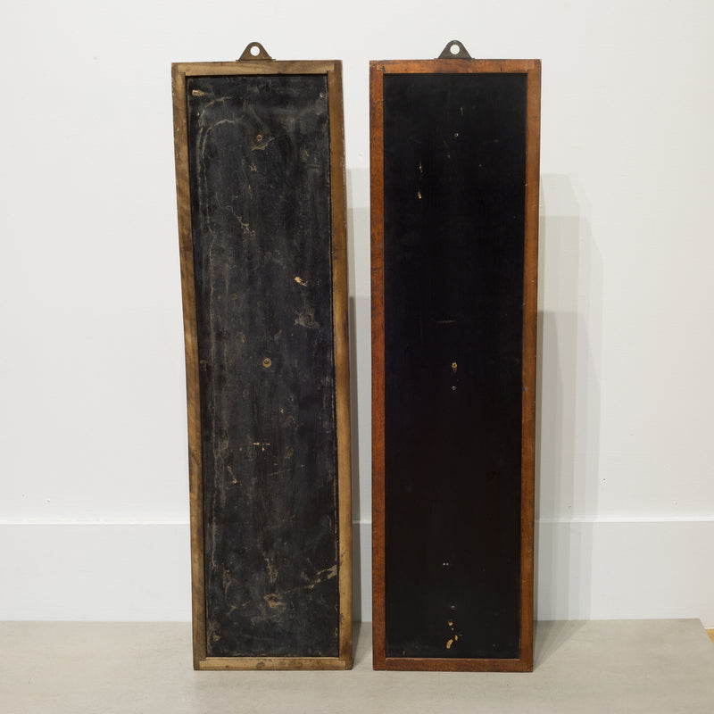Pair of Antique Oak Time Card Holders c.1900