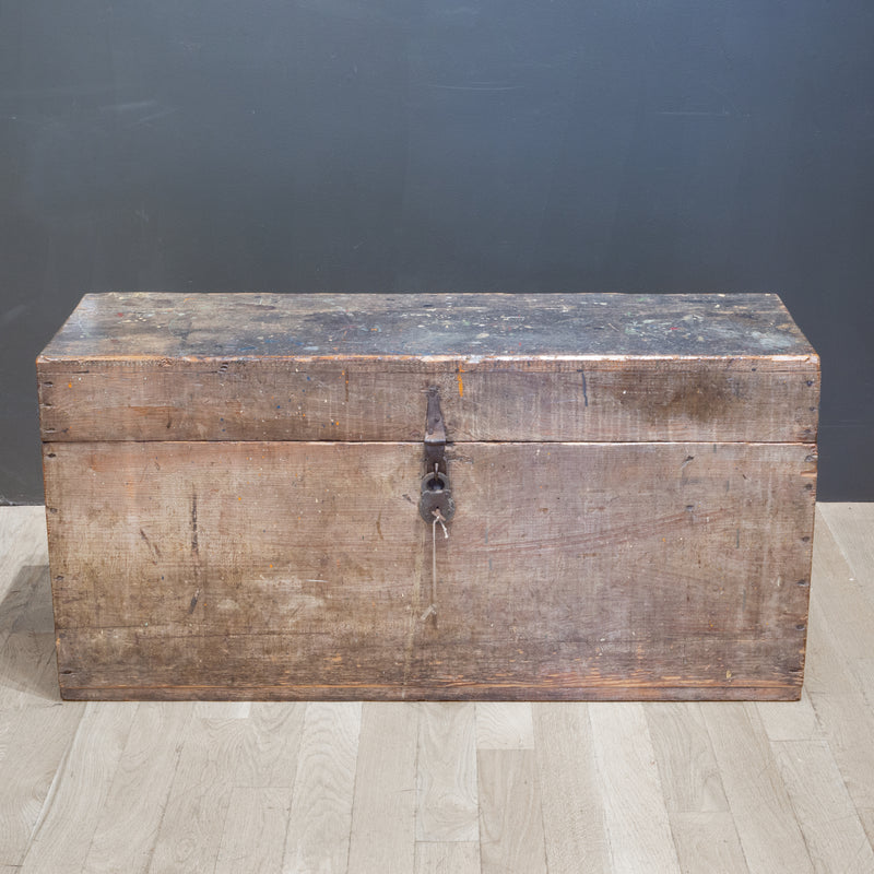 Handmade Rustic Tool Chest with Antique Pad Lock c.1920